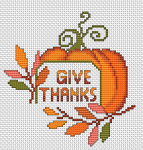 An Idea for a cross stitch card dedicated to the US National Day - Thanksgiving.