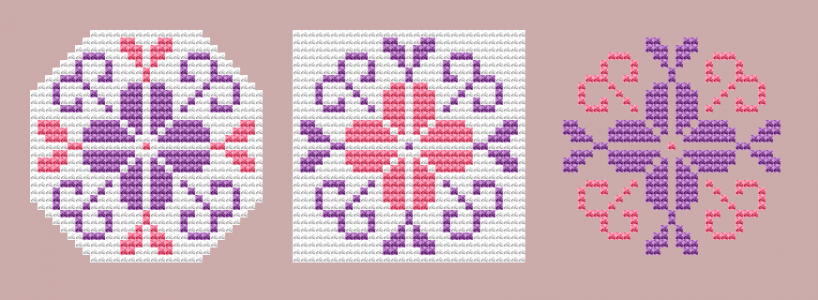 Beautiful ornaments cross stitch pattern.Suitable for small projects, tags,embroidered jewelry - earrings, necklaces or magnets,buttons and so on.