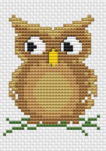 Adorable pattern of an owl for kids and beginner stitchers. A wise old owl sat in an oak; The more he saw the less he spoke; The less he spoke the more he heard; Why can't we all be like that wise old bird?