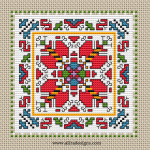 Beautiful Ornament cross stitch pattern based on traditional Bulgarian embroidery.
