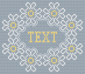 Beautiful simple cross stitch pattern with a blank space where you can add your own text.