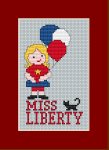 A cross stitch pattern for the upcoming holiday of the American people - July 4